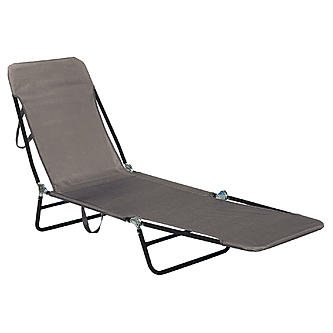 Essential Garden S60017 Sling Folding Chaise   Neutral