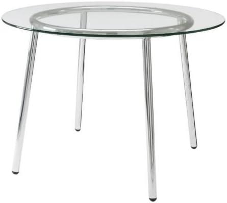 Ikea Table Verre Chrome Plaque 1624 288 3834 Amazon Fr Cuisine