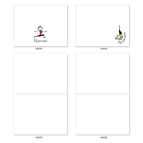 M3963 Namaste Notes: 10 Assorted Blank All-Occasion Note Cards Feature Zen Serenity Yoga Poses, w/White Envelopes. Photo #2