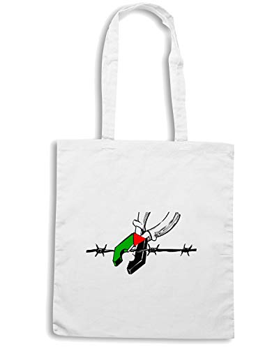 Shirt Borsa Speed Bianca PALESTINE Shopper TM0555 FREE 4100xwd