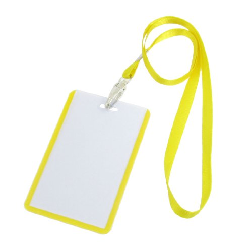 uxcell Yellow Vertical Holders Lanyards