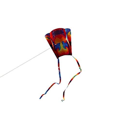 Fineser Kite Colorful Mini Pocket Frameless Soft Parafoil Kites for Kids Easy Flyer kite for Beach Park Garden Playground (B)