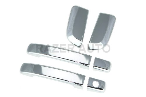 Razer Auto 2005-2012 NISSAN PATHFINDER CHROME DOOR HANDLE COVER 4D W/O PASS - Door Handle 4d Chrome