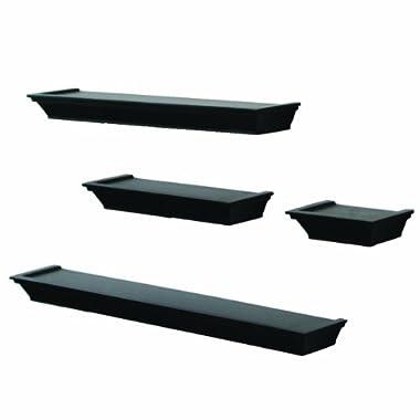 John Sterling 0139-BK4 4-Piece Decorative Ledge Set, Black