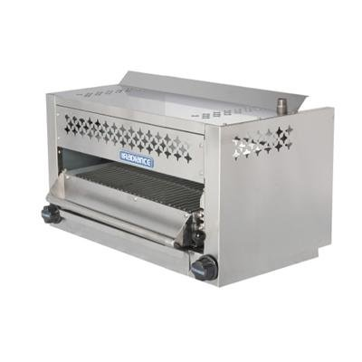 Turbo Air TASM24 24'' Salamander Broiler with Stainless Steel Construction Rolling Out Grid Removable Grease Pan Individual Gas Controls 5 Locking Position and Adjustable Gas Valve: by Turbo Air