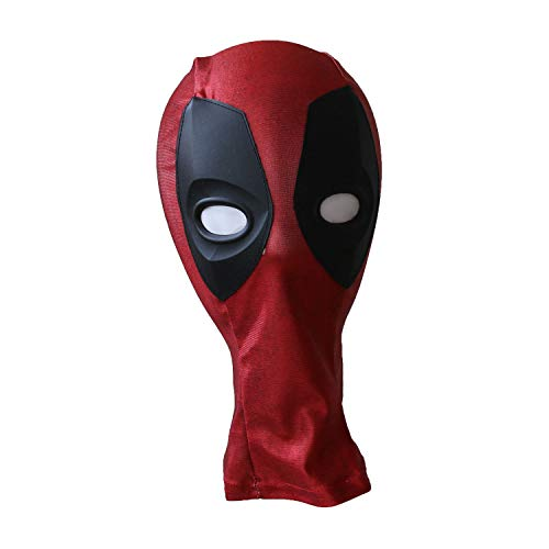 The Crazy Ones Kids Deadpool Cosplay Costume Mask Halloween Party Accessory Wine Red]()
