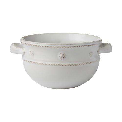 Juliska Berry & Thread Whitewash 2 Handled Soup/Chili Bowl