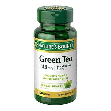 Natures Bounty Green Tea Extract 315mg - 100 Capsules, Pack of 6