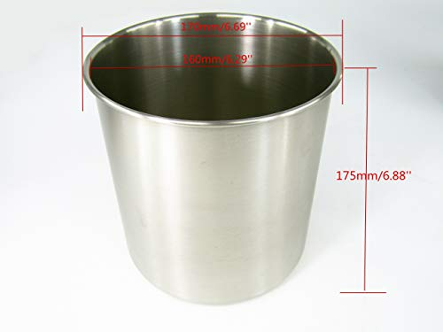KUNHEWUHUA 2 Bucket Sauce Dispenser Pump Stainless Steel Condiment Pump Station for Salad Jam Seasoning Sauce Squeeze 2 gal (2 Bucket) by KUNHEWUHUA (Image #2)