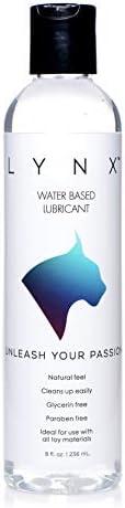 Lynx Water Based Lubricant, 8 Ounces, 8 Fluid Ounce