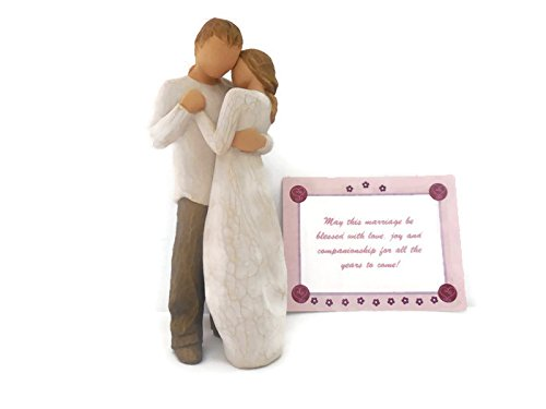 Willow Tree Promise Statue Bundle with a Note Card, Best Anniversary Gifts for a Couple, Newlyweds, Wedding Couple, Husband and Wife
