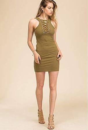 Amazon.com  Mantra Bands Lace-up Grommet Bodycon Dress (Medium)  Jewelry 27aa7ec74