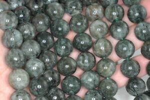 - 14MM Green RUTILATED Quartz Gemstone Grade A Round Loose Beads 7.5