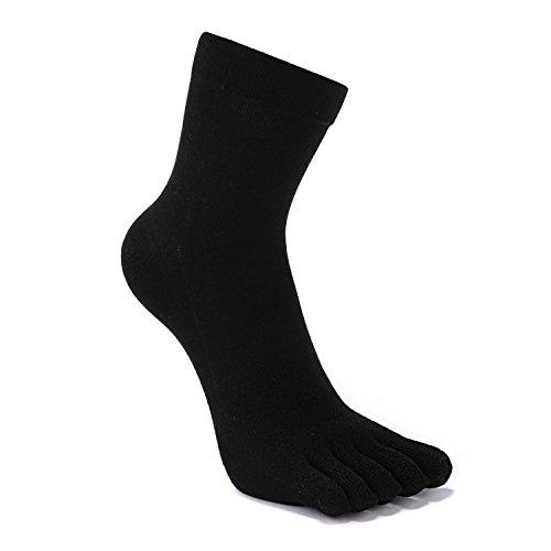 Avec Orteils 3 Five À Séparés les chaussette Mixte De 5 Doigts 3 Paires Chaussettes 3 Hommes Fingers couleur En Pied Coton TYX1nw