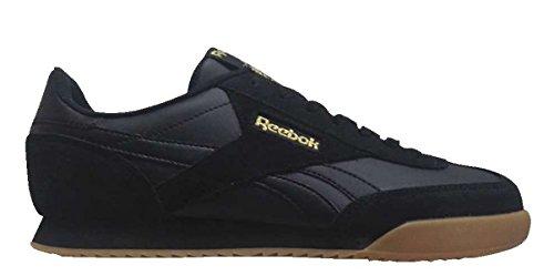 Reebok Mens Royal Rayen 2 Fashion Sneaker Black-gold Metallic-gum