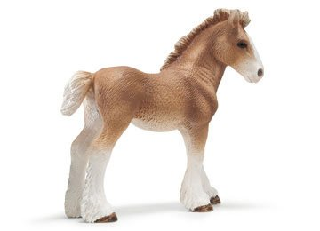 Foal Clydesdale (Schleich Clydesdale Foal Toy Figure)