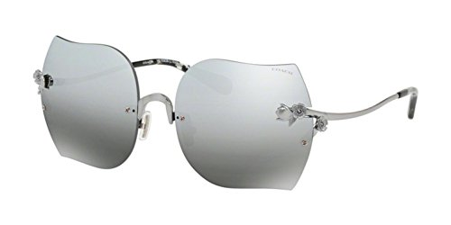 Coach Women's HC7082B Sunglasses Shiny Gunmetal/Gunmetal Gradient Mirror 60mm