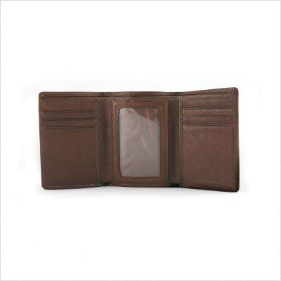 Fold Mens Tri Cashmere - Cashmere Men's Trifold with ID Color: Black