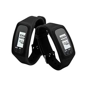 Togethluer Digital LCD Pedometer.Calorie Counter Step Walking Distance Bracelet Smart Watch Black