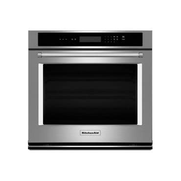 KITCHENAID KOST100ESS 30 Single Electric Wall Oven with 5.0 cu. ft. Capacity, Even-Heat Preheat, Glass Touch Display, Self Cleaning Cycle and ADA Compliant
