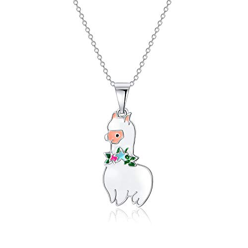 Alpaca Llama Necklace for Little Girls Best Gifts Cute and Docile Alpaca Charm Jewelry accessorie for Flower Girls in -