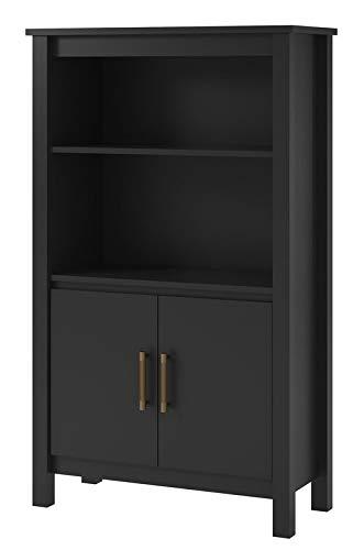 amazon com mik wood bookcase with 2 shelves bookcase with 2 doors rh amazon com 5 shelf bookcase oak 5 shelf bookcase
