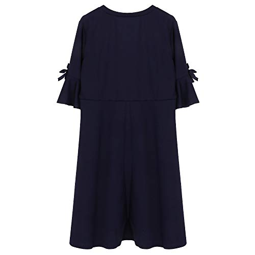 Euone ❀Dress, Women's Korean-Style Solid Color Knit Half Sleeve Dress