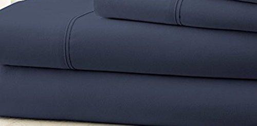 Hotel 1800 Comfort Count Deep Pocket 4 Piece Bed Sheet Set Blue - Price Blue Philippines Label