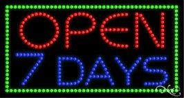 Open 7 Days LED Sign (High Impact, Energy (Open 7 Days Led)