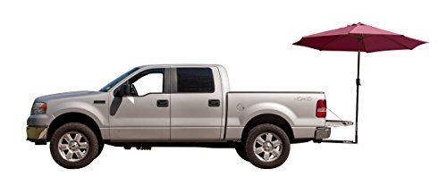 Tailbrella Maroon Tailgate Hitch Umbrella Canopy for Truck SUV Tailgater. 9FT Large Water-Resistant Tailgating Tents for Outdoor Camping, Beach, Travel, Hunting. EZ Pop Up Umbrellas for Shade ()