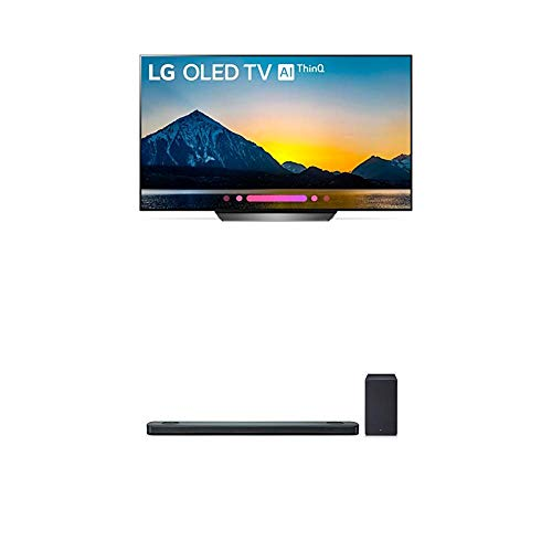 LG Electronics OLED65B8PUA 65-Inch 4K Ultra HD Smart OLED TV (2018 Model) Bundle with LG SK9Y 5.1.2 ch High Res Audio Sound Bar with Dolby Atmos (2018)