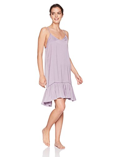 (Maidenform Women's Rococo Affairs Island Silk Ruffle Chemise, Purple ash, Extra Large)