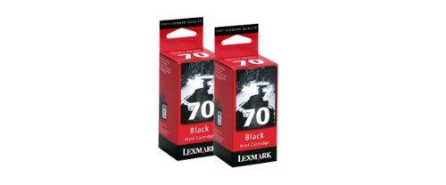 (Lexmark 70 (15M1330) Black OEM Genuine Inkjet/Ink Cartridge (12A1970*2) (600 x2 Yield) - Retail)