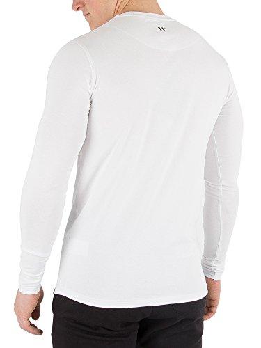 Larga Degrees Manga Con Camiseta 11 De Hombre Blanco Larga 60wIvx