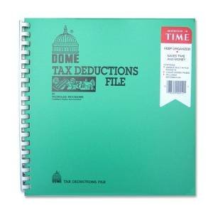 DOM912 - Tax Deduction File, w/ Pockets, 11x9-3/4 Business Expense Organizer
