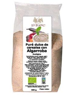 PURÉ INSTANTÁNEO DULCE DE CEREALES CON ALGARROBA BIO LO BLANC - Bolsa polvo 300 g: Amazon.es: Alimentación y bebidas