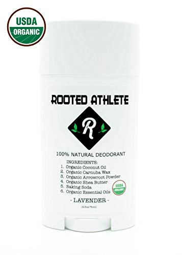 100% Natural Deodorant (that works!) - LAVENDER - Aluminum Free - Certified Organic - For Women and Men (Best Deodorant For Female Athletes)