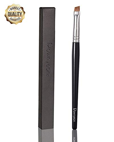 Rownyeon Eyebrow Brush Eyeliner Brush Angled Brush,Eye Makeup Brush Cosmetic Tool for Eyeliner Brow with Liquid Powder Cream (Curved Eyebrow) -