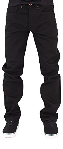 Rocawear Mens Boys Black Double R Star Relaxed Fit Jeans is Money G Hip Hop Time (W36 - L34, Black) ()