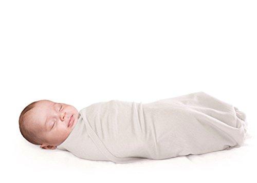 Woolino Newborn Swaddle Blanket, 100% Superfine Merino Wool, For Babies 0-3 Months, Beige