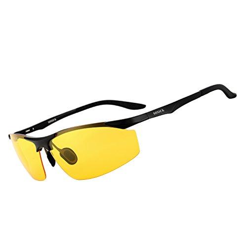 SOXICK Polarized Sunglasses & Night Vision Glasses For Driving Adjustment Frame L4
