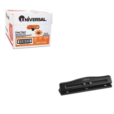 KITSWI74020UNV21200 - Value Kit - Swingline 11-Sheet Commercial Adjustable Three-Hole Punch (SWI74020) and Universal Copy Paper (UNV21200)