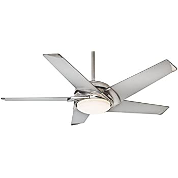 Casablanca 59094 stealth 54 inch brushed nickel ceiling fan with casablanca 59094 stealth 54 inch brushed nickel ceiling fan with platinum blades and cased white aloadofball Gallery