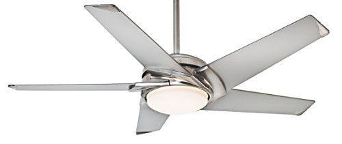 Casablanca 59094 Stealth 54-inch Brushed Nickel Ceiling Fan with Platinum Blades and Cased White Glass Light (Fan Inch 54 Ceiling Breeze)