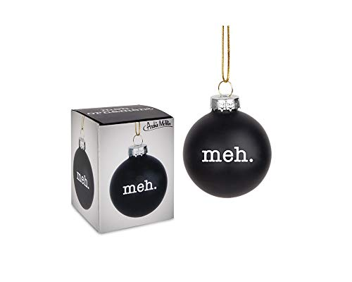 Archie McPhee Glass Meh Ornament