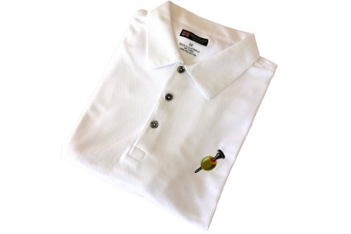 Golfoholics Men's Dry Martini Moisture-Wicking Golf Shirt L White Martini Short Sleeve Shirt