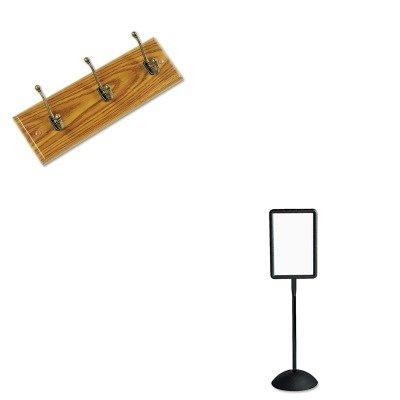 KITSAF4117BLSAF4216MO - Value Kit - Safco Wall Rack (SAF4216MO) and Safco Double Sided Sign (SAF4117BL)