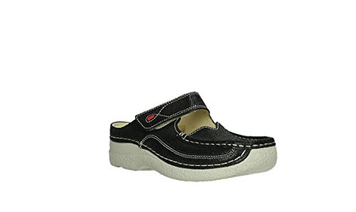 Comfort Black Clogs Roll Slipper Sliky 15070 Nubuck 1qpdqAZ