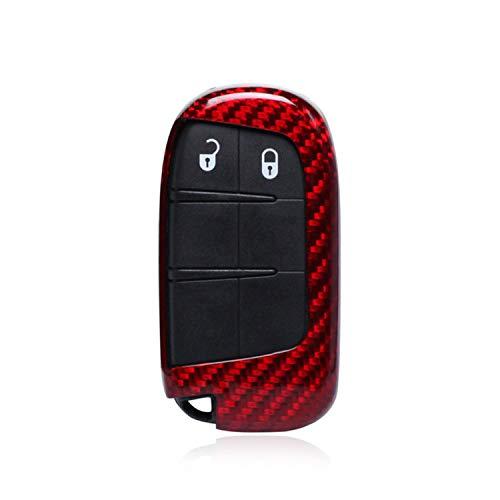 100% Carbon Fiber Case For Fiat/Dodge Key Fob, Genuine Carbon Fiber Cover For Fiat Viaggio Ottimo Freemont Dodge JCUV Journey Fob Remote Key, Men's Car Key Fob Case Protector Women's - Charger Fiber Carbon Dodge