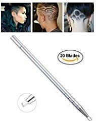 Razor Pen 20 Straight Blade w/Tweezer Shaving for Men Woman Kids | Barber & Salon Styling Razor Pencil Haircutting Cutting Tattoo Engraving Maker Stick Hair Knife Razors – By Original Razor Pen